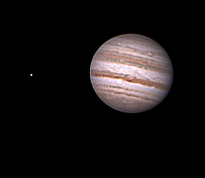 Jupiter & Europa by Mike Hardin 7-30-11